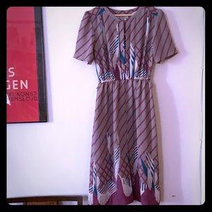 Vintage Japanese lavender woven dress